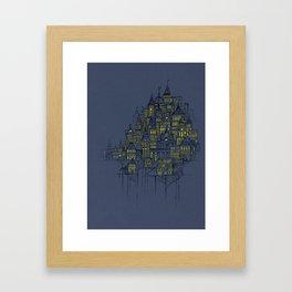 High City Lights Framed Art Print