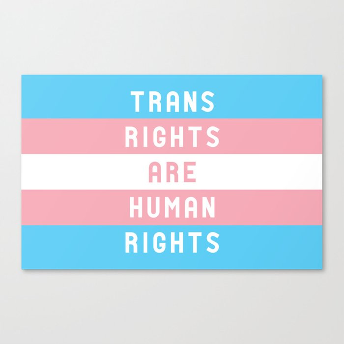 Trans Rights are Human Rights Canvas Print