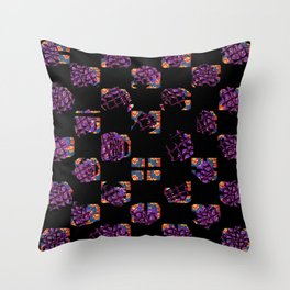 Square and flowers Throw Pillow