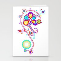 psychedelic Stationery Cards featuring Psychedelic by tuditees
