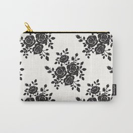 Black Roses Romantic Pattern Carry-All Pouch