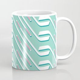 Sticks On Ice Blue Coffee Mug