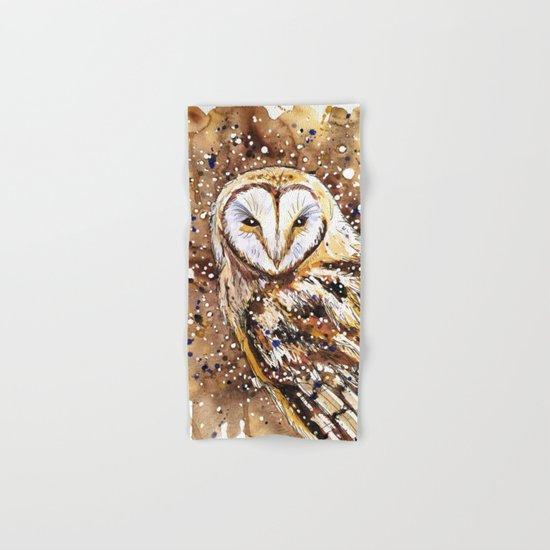 winter's owl Hand & Bath Towel
