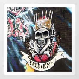 Las Vegas Skull Graffiti Art Print