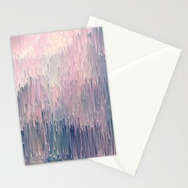 Blush Glitches Stationery Cards