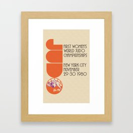 """First Women's World Judo Championship 1980"" Vintage Reproduction Framed Art Print"