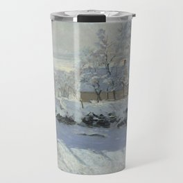 Monet, The Magpie (La Pie) (Die Elster) 1868-1869 Travel Mug