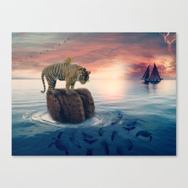 Tiger Drifting by GEN Z Canvas Print