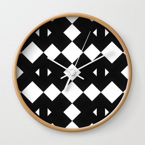 Branting Black & White Pattern Wall Clock
