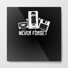 Funny Retro 80s 90s VHS Cassette 90s Metal Print
