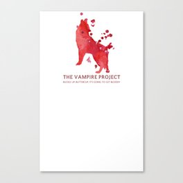 Vampire Project - Bloody Canvas Print