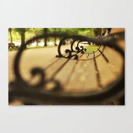 Boston Park Bench Canvas Print