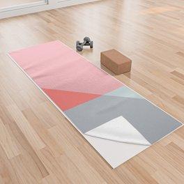 Mélange No. 2 Modern Geometric Yoga Towel