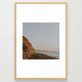 Torrey Pines Coastline Framed Art Print