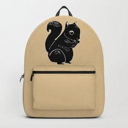 Black Squirrel Printmaking Art Backpack