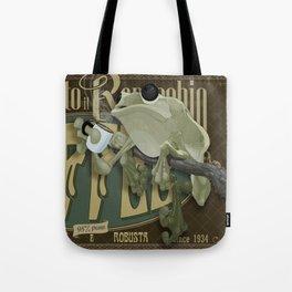 Frog & Coffee by Paulo Coruja Tote Bag