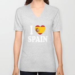 I Love Spain Unisex V-Neck