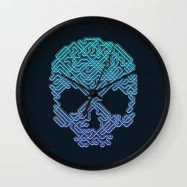 Labyrinthine Skull - Neon Wall Clock