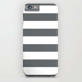 Simply Striped in Storm Gray and White iPhone Case