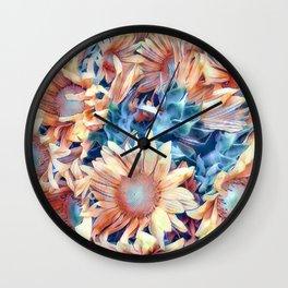 Aquarell Floral 03 Wall Clock