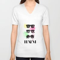 haim V-neck T-shirts featuring Haim (colour version) by Mariam Tronchoni