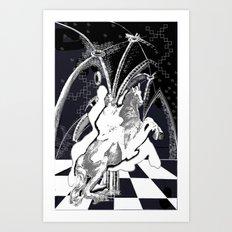 ghost rider shadow Art Print