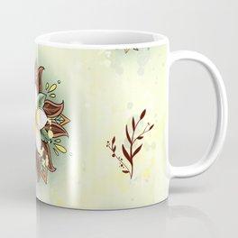 Plumeria Mandala Coffee Mug