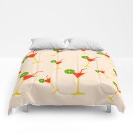 Pinky Margarita drink Comforters