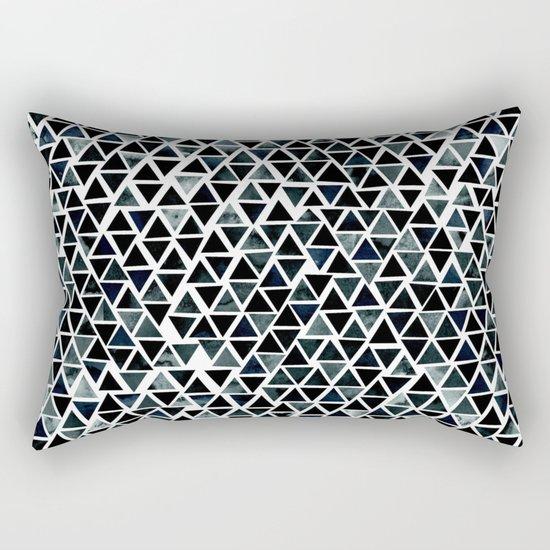 Black Triangles Pattern 01 Rectangular Pillow