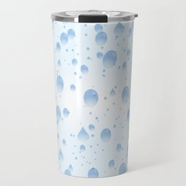 Water drops with background Travel Mug