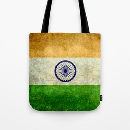 Flag of India - Vintage retro style Tote Bag