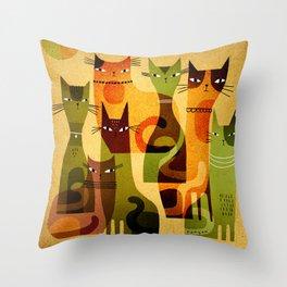CAT HERD Throw Pillow