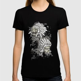 Native American Chief Skulls T-shirt