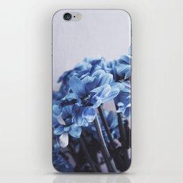 blue flowers iPhone Skin