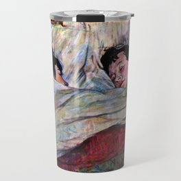 "Henri de Toulouse-Lautrec ""The Bed"" Travel Mug"