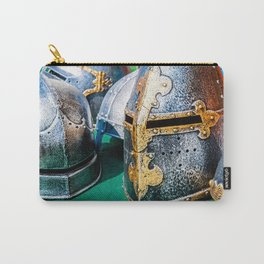 Medieval Knight Or Crusader Helmets Carry-All Pouch