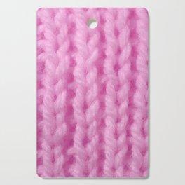 Pink Wool Knitting Texture Cutting Board