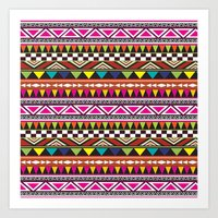 aztec Art Prints featuring AZTEC by Acus