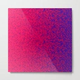 Red Scarlet Violet Pixilated Gradient Metal Print