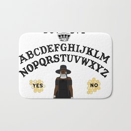 Queen Bey Ouija Board Bath Mat