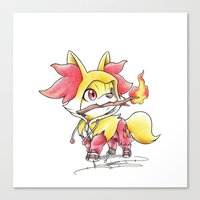 games Canvas Prints featuring Flame Games by Randy C