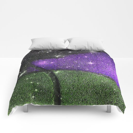 Purple Starry Eyed Dog Comforters