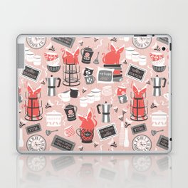 Modern farmhouse coffee station // pink Laptop & iPad Skin