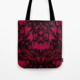 Bats and Beasts - Blood Red Tote Bag