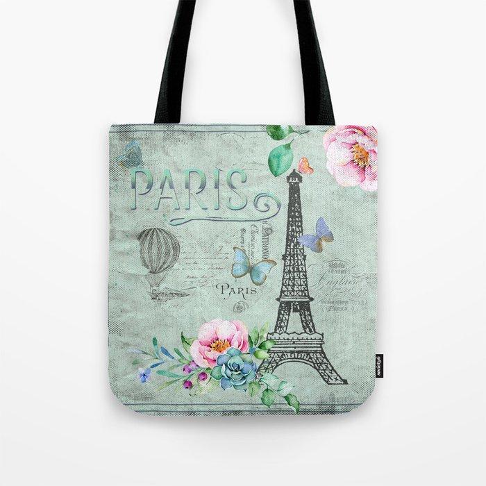 Paris - my love - France Eiffeltower Nostalgy- French Vintage Tote Bag