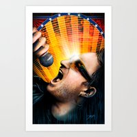 u2 Art Prints featuring Bono from U2 by Storm Media