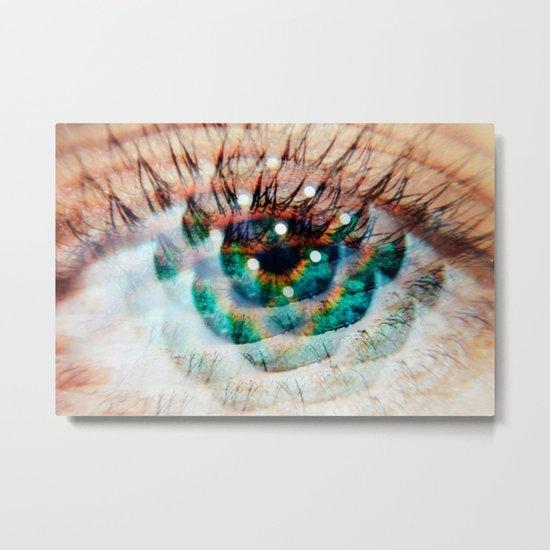 Green Eyes Hypnotize Metal Print