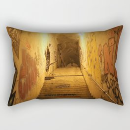 Alley with graffiti in the night Rectangular Pillow