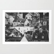 LE VILLAGE Art Print