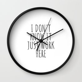 I don't know it just work here Wall Clock